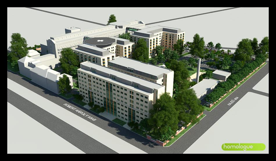 Honvéd Kórház bővítés