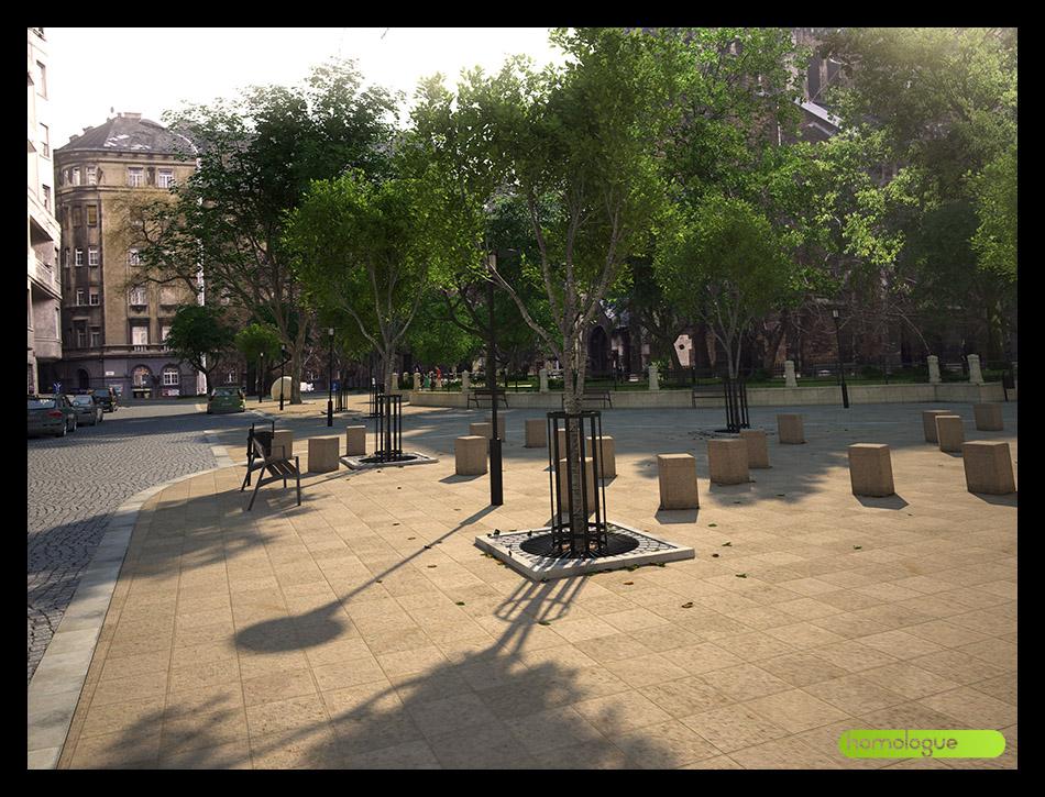 075 - Bakáts tér kertészet átalakítása