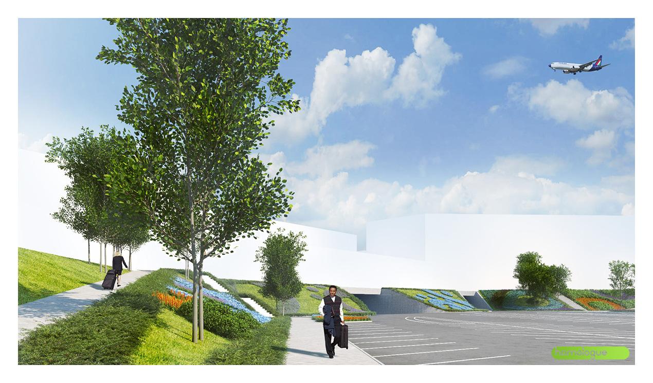 213 - Budapest Airport parkoló kertészeti átalakítás