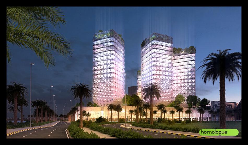 134 - Toronyház homlokzatcsere Tripoli